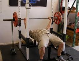 Power Bench Bench Press With Bands Using Power Rack Chest Exercise Video Example