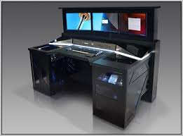 Gaming Desk Plans Home Design Extraordinary Superb Custom Computer Desk Plans