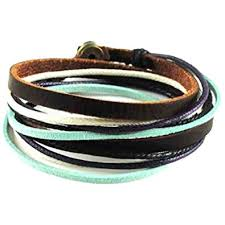 leather bracelet images Soft leather multicolour ropes women leather bracelet jpg