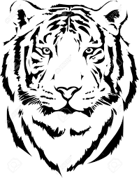 tiger in black interpretation 2 royalty free cliparts vectors