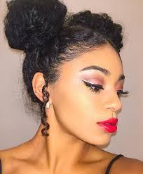 pics of black pretty big hair buns with added hair charming make up and cool two buns jasmeannnn hair pop hair