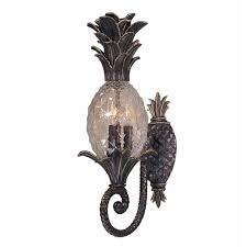 new 3 light tropical outdoor wall lamp lighting fixture bronze pineapple glass
