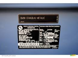 2002 5 series color code 372 for steel blue metallic photo