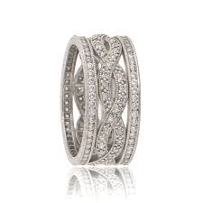 infinity wedding band infinity twist estate wedding band estate diamond jewelry
