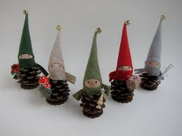 pinecone ornament set of 5 woodland decor forest