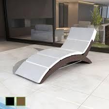 liege balkon poly rattan liege gartenliege sonnenliege relax liegestuhl