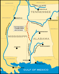 tombigbee waterway map cruising the tennessee river