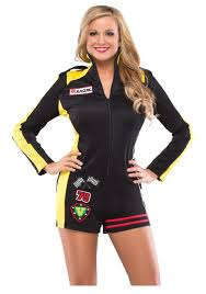 Nascar Driver Halloween Costume Womens Race Car Costume