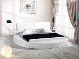 round platform bed white leather queen size round platform bed with two attached