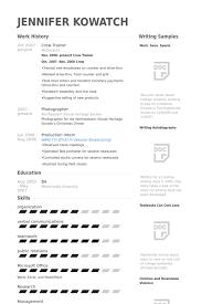 crew trainer resume samples visualcv resume samples database