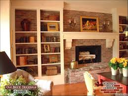 Backless Bookshelf Bookshelves To Cover Brick Fireplace Wall March 2010