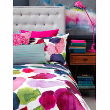 abstract duvet cover designer bedding bluebellgray