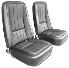 1968 corvette seats 1968 corvette smooth grain leather seat cover set with basketweave