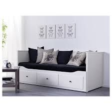 ikea daybed frame in dashing black for space saving bedroom design