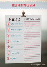 Menu Planner With Grocery List Template Five Fabulous Free Meal Plan Printables Page 2 Of 2 The Taylor