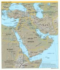 Russia Physical Map Physical Map by Middle East Middle East Physical Map 2004