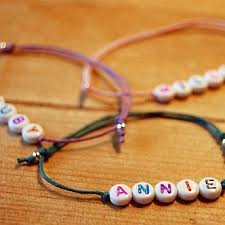 beaded name bracelets best 25 letter ideas on alphabet baby