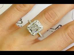 radiant cut halo engagement rings 2 carat elongated radiant cut halo engagement ring