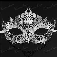 black and silver masquerade masks luxury metal laser cut masks venetian