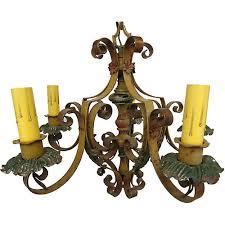 Spanish Revival Chandelier Lighting Vintage By Category Vintage One Kings Lane