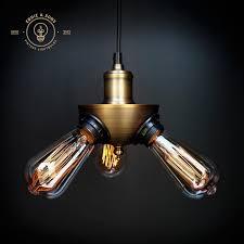 eddie u0026 sons triple head vintage pendant light with 3 free edison
