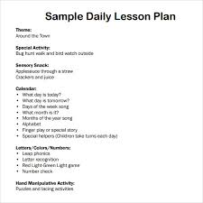 28 preschool daily lesson plan template free weekly lesson plan
