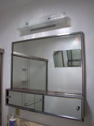 furniture intriguing mirrored sliding bathroom medicine cabinet