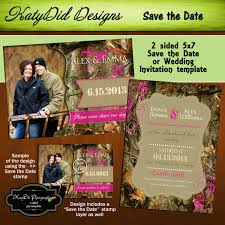 camo wedding invitations instant mossy oak inspired camouflage 5x7 wedding