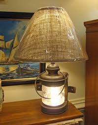 Lantern Table Lamp Antique Boat Bow Light Table Lamp Skipjack Nautical Wares