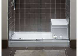 Bathroom Shower Base Shower Space Walls Bases Guides Bathroom Kohler In Acrylic Base