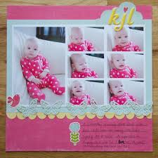 baby girl scrapbook album yeah write baby layouts and album talk