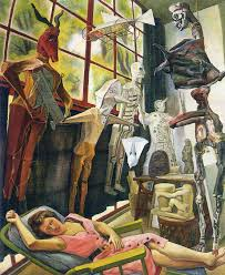 the painter the painter s studio 1954 diego rivera wikiart org