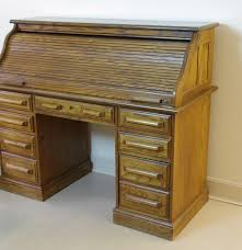Beautiful Desk Beautiful Reproduction Solid Oak Roll Top Desk Ebth