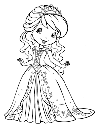 printable strawberry shortcake cartoon coloring pages