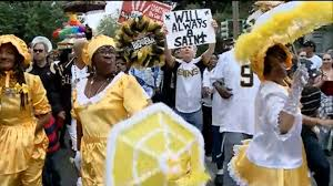 saints u0027 will smith gets new orleans style sendoff nbc news