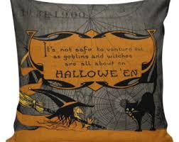 halloween pillow etsy