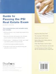 guide to passing the psi real estate exam 7th edition lawrence