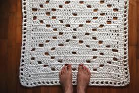 Round Bathroom Rugs For Sale by Upcycled Cotton Bathroom Rug U2013 Yarntangling And Yurtfurtling