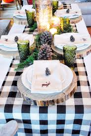 buffalo plaid table runner buffalo check christmas style series thanksgiving goal and create