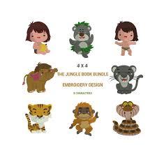 jungle book embroidery design machine embroidery design