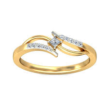 diamond ring princess and round diamond ring in yellow gold jewelocean com