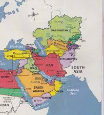 South Asia Political Map by Mr Izor U0027s Akins Geography South West Asia Mapping Part 1 2