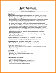 Teachers Resume Example Resume Sample For Language Teacher Templates