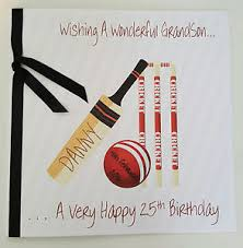 personalised birthday card 25th 40th 50th 60th 70th cricket dad