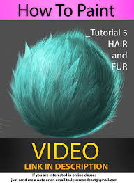 how to paint hair and fur by jesus conde by jesusaconde on