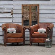 Leather Armchairs Vintage Antique Authentic French Distressed Brown Leather By Thejunkhaus