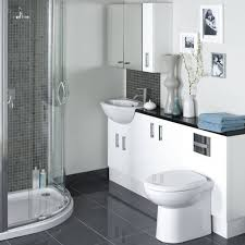 bathroom contemporary black and white small bathroom including