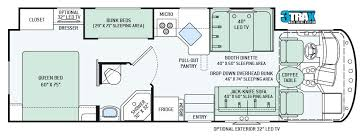 class a rv floor plans class c rv floor plans with bunk beds must see bunkhouse class c