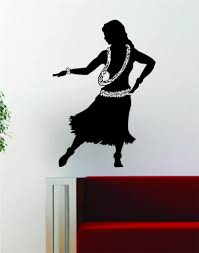 hula v2 decal sticker wall vinyl art room wall decor