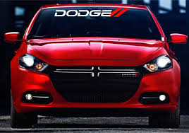 Dodge Ram Decals - dodge front windshield banner decal stickers with red